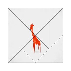 Animal Giraffe Orange Acrylic Tangram Puzzle (6  X 6 ) by Alisyart