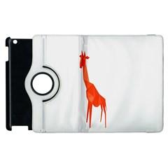 Animal Giraffe Orange Apple Ipad 2 Flip 360 Case by Alisyart