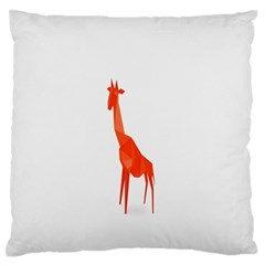 Animal Giraffe Orange Large Flano Cushion Case (one Side) by Alisyart