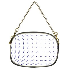 Arrows Blue Chain Purses (two Sides)