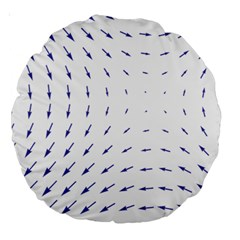 Arrows Blue Large 18  Premium Round Cushions by Alisyart