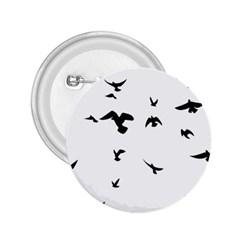 Bird Fly Black 2 25  Buttons