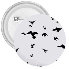 Bird Fly Black 3  Buttons