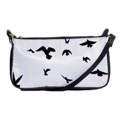 Bird Fly Black Shoulder Clutch Bags by Alisyart