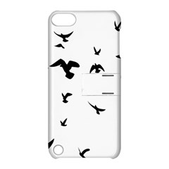 Bird Fly Black Apple Ipod Touch 5 Hardshell Case With Stand by Alisyart