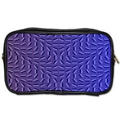 Calm Wave Blue Flag Toiletries Bags 2 Side by Alisyart