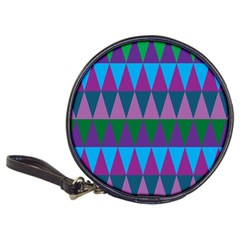 Blue Greens Aqua Purple Green Blue Plums Long Triangle Geometric Tribal Classic 20 Cd Wallets by Alisyart