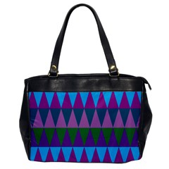 Blue Greens Aqua Purple Green Blue Plums Long Triangle Geometric Tribal Office Handbags by Alisyart