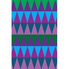 Blue Greens Aqua Purple Green Blue Plums Long Triangle Geometric Tribal 5 5  X 8 5  Notebooks by Alisyart