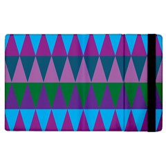 Blue Greens Aqua Purple Green Blue Plums Long Triangle Geometric Tribal Apple Ipad 3/4 Flip Case by Alisyart