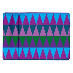Blue Greens Aqua Purple Green Blue Plums Long Triangle Geometric Tribal Samsung Galaxy Tab 10 1  P7500 Flip Case