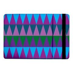 Blue Greens Aqua Purple Green Blue Plums Long Triangle Geometric Tribal Samsung Galaxy Tab Pro 10 1  Flip Case by Alisyart