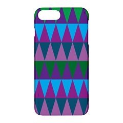 Blue Greens Aqua Purple Green Blue Plums Long Triangle Geometric Tribal Apple Iphone 7 Plus Hardshell Case