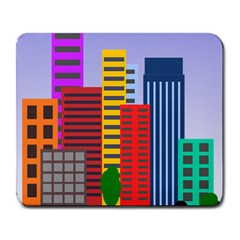 City Skyscraper Buildings Color Car Orange Yellow Blue Green Brown Large Mousepads by Alisyart