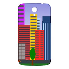 City Skyscraper Buildings Color Car Orange Yellow Blue Green Brown Samsung Galaxy Mega I9200 Hardshell Back Case