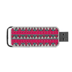 Aztec Geometric Red Chevron Wove Fabric Portable Usb Flash (one Side) by Alisyart
