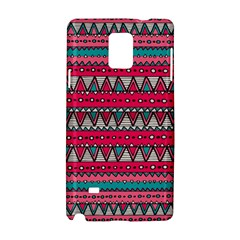 Aztec Geometric Red Chevron Wove Fabric Samsung Galaxy Note 4 Hardshell Case by Alisyart