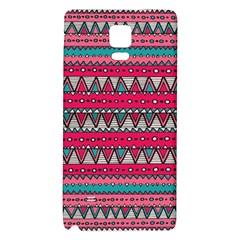 Aztec Geometric Red Chevron Wove Fabric Galaxy Note 4 Back Case by Alisyart