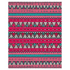Aztec Geometric Red Chevron Wove Fabric Drawstring Bag (small) by Alisyart