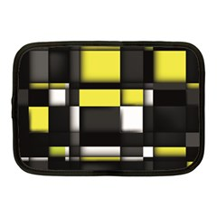 Color Geometry Shapes Plaid Yellow Black Netbook Case (medium)  by Alisyart