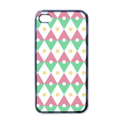 Diamond Green Circle Yellow Chevron Wave Apple Iphone 4 Case (black) by Alisyart
