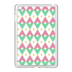 Diamond Green Circle Yellow Chevron Wave Apple Ipad Mini Case (white) by Alisyart