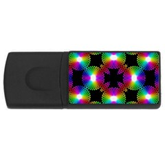 Circle Color Flower Usb Flash Drive Rectangular (4 Gb) by Alisyart