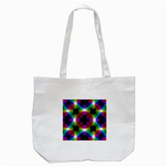 Circle Color Flower Tote Bag (white) by Alisyart