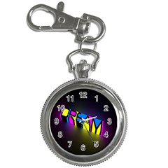 Dream Colors Neon Bright Words Letters Motivational Inspiration Text Statement Key Chain Watches