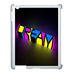 Dream Colors Neon Bright Words Letters Motivational Inspiration Text Statement Apple Ipad 3/4 Case (white) by Alisyart