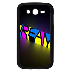 Dream Colors Neon Bright Words Letters Motivational Inspiration Text Statement Samsung Galaxy Grand Duos I9082 Case (black)