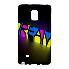 Dream Colors Neon Bright Words Letters Motivational Inspiration Text Statement Galaxy Note Edge by Alisyart