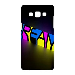 Dream Colors Neon Bright Words Letters Motivational Inspiration Text Statement Samsung Galaxy A5 Hardshell Case