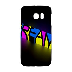 Dream Colors Neon Bright Words Letters Motivational Inspiration Text Statement Galaxy S6 Edge by Alisyart