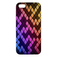 Colorful Abstract Plaid Rainbow Gold Purple Blue Iphone 5s/ Se Premium Hardshell Case by Alisyart
