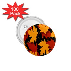 Dried Leaves Yellow Orange Piss 1 75  Buttons (100 Pack)  by Alisyart