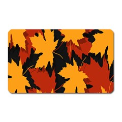 Dried Leaves Yellow Orange Piss Magnet (rectangular) by Alisyart