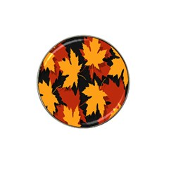 Dried Leaves Yellow Orange Piss Hat Clip Ball Marker by Alisyart