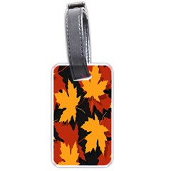 Dried Leaves Yellow Orange Piss Luggage Tags (one Side)  by Alisyart