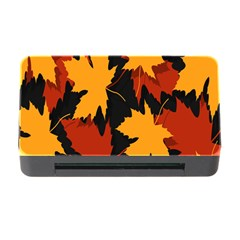 Dried Leaves Yellow Orange Piss Memory Card Reader With Cf by Alisyart