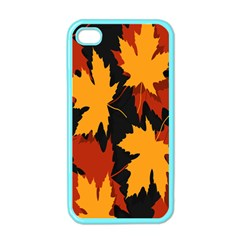 Dried Leaves Yellow Orange Piss Apple Iphone 4 Case (color) by Alisyart
