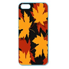 Dried Leaves Yellow Orange Piss Apple Seamless Iphone 5 Case (color) by Alisyart