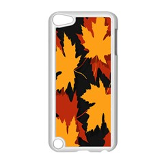 Dried Leaves Yellow Orange Piss Apple Ipod Touch 5 Case (white) by Alisyart