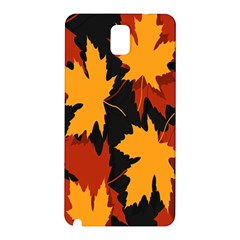 Dried Leaves Yellow Orange Piss Samsung Galaxy Note 3 N9005 Hardshell Back Case by Alisyart