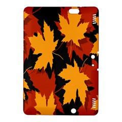 Dried Leaves Yellow Orange Piss Kindle Fire Hdx 8 9  Hardshell Case by Alisyart