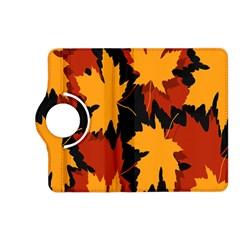 Dried Leaves Yellow Orange Piss Kindle Fire Hd (2013) Flip 360 Case by Alisyart
