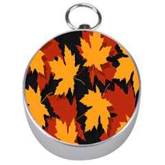 Dried Leaves Yellow Orange Piss Silver Compasses by Alisyart