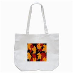 Dried Leaves Yellow Orange Piss Tote Bag (white)