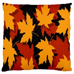 Dried Leaves Yellow Orange Piss Standard Flano Cushion Case (one Side)