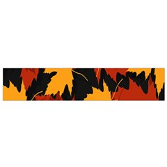Dried Leaves Yellow Orange Piss Flano Scarf (small) by Alisyart
